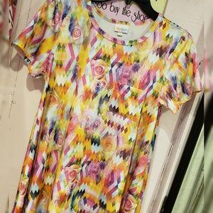 LuLaRoe Dresses - Lularoe multi color floral dress size XS